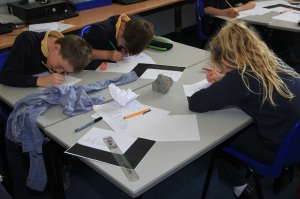 Shhh! Poets at work. Getting going with the volcano poems. Concentration was intense. Image Courtesy SAW Trust.