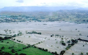 USGS Image of the lahars covering the town of Armero in November 1985